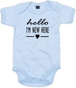 "Babywelt | Babybugz | 71.0010 |  BZ10 Baby Body kurzarm |  Druck ""Hello New Here"""