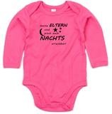 "Babywelt | Babybugz | 71.0030 |  BZ30 Baby Body langarm  |  Druck ""Eltern Nachts Erreichbar"""