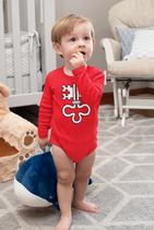 Babywelt | Rabbit Skins | LA4411N |  Infant Fine Jersey Baby Body Langarm  | Druck Wappen Nidwalden