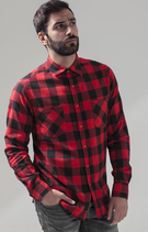 Build your Brand | BY031 | Checked flannel shirt