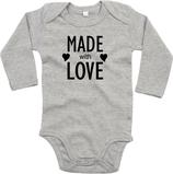 "Babywelt | Babybugz | 71.0030 |  BZ30 Baby Body langarm  |  Druck ""Made With Love"""