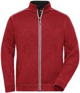 James & Nicholson   JN 898   Herren Workwear Strickfleece Jacke -Solid-