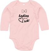 "Babywelt   Babybugz   71.0030    BZ30 Baby Body langarm     Druck ""Ladys Da Bin Ich"""