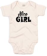 """Babywelt   Babybugz   71.0010    BZ10 Baby Body kurzarm    Druck """"Nice Girl"""""""