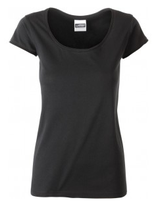James & Nicholson | Damen Bio T-Shirt mit Rollsaum | JN 8001