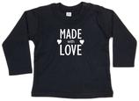 "Babywelt | Babybugz | 71.0011 |  BZ11 Baby T-Shirt langarm |  Druck ""Made With Love"""