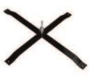 Flaggen Zubehör | Universal Basis Metall Kreuz + Rotator | C-11