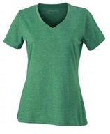James & Nicholson | Damen V-Neck Heather T-Shirt | JN 973
