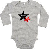 "Babywelt | Babybugz | 71.0030 |  BZ30 Baby Body langarm  |  Druck ""Star Is Born"""