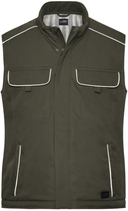 James & Nicholson   JN 885   Unisex Workwear Softshell Padded Gilet -Solid-