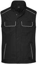 James & Nicholson   JN 881   Unisex Workwear Softshell Light Gilet -Solid-