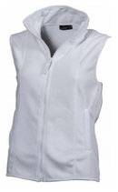 James & Nicholson | JN048 | Girly Microfleece Gilet / Gr. S / white / Ausverkauf