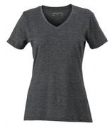 James & Nicholson | Damen V-Neck Heather T-Shirt | JN 973