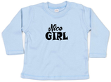 "Babywelt   Babybugz   71.0011    BZ11 Baby T-Shirt langarm    Druck ""Nice Girl"""