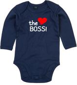 "Babywelt | Babybugz | 71.0030 |  BZ30 Baby Body langarm  |  Druck ""The Boss"""