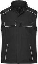 James & Nicholson   JN 883   Unisex Workwear Softshell Gilet -Solid-
