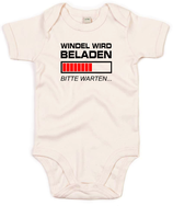 "Babywelt   Babybugz   71.0010    BZ10 Baby Body kurzarm    Druck ""Windel wird beladen"""