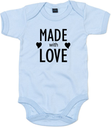 "Babywelt | Babybugz | 71.0010 |  BZ10 Baby Body kurzarm |  Druck ""Made With Love"""
