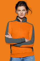 Hakro | № 277 Damen-Sweatjacke Contrast Performance
