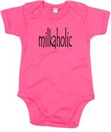 "Babywelt | Babybugz | 71.0010 |  BZ10 Baby Body kurzarm |  Druck ""milkaholic"""