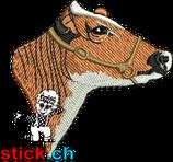 "SWL | Bruststickerei links ""Red Holstein Kopf"""