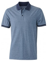 James & Nicholson | Herren Jersey Heather Polo | JN 706