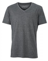 James & Nicholson | Herren V-Neck Heather T-Shirt | JN 974