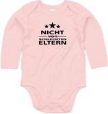 """Babywelt   Babybugz   71.0030    BZ30 Baby Body langarm     Druck """"Nicht von Schlechten Eltern"""""""