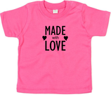 "Babywelt | Babybugz | 71.0002 |  BZ02 Baby T-Shirt kurzarm |  Druck ""Made With Love"""