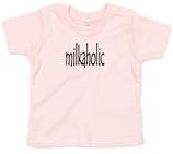 "Babywelt | Babybugz | 71.0002 |  BZ02 Baby T-Shirt kurzarm |  Druck ""milkaholic"""