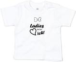"""Babywelt   Babybugz   71.0002    BZ02 Baby T-Shirt kurzarm    Druck """"Ladys Da Bin Ich"""""""