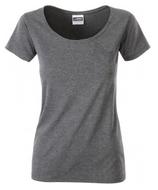 James & Nicholson | JN 8003 | Damen Bio T-Shirt mit Brusttasche