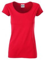 James & Nicholson | JN 8001 | Damen Bio T-Shirt mit Rollsaum