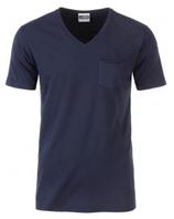 James & Nicholson | JN 8004 | Herren Bio V-Neck T-Shirt mit Brusttasche