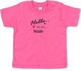 "Babywelt | Babybugz | 71.0002 |  BZ02 Baby T-Shirt kurzarm |  Druck ""Hallo ich bin..."""