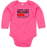 "Babywelt   Babybugz   71.0030    BZ30 Baby Body langarm     Druck ""Windel wird beladen"""