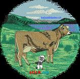 "SWL | Rückenstick ""Kuh braun ohne Horn1"""
