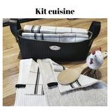Kit cuisine motif torchon