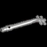 P110 245 Drahtrichteisen für Runddrähte Ø 8-10 mm, stahl-verzinkt, Länge 260 mm