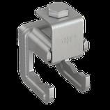 P111 423 Verbindungsklemme Stahl für Ø 6-20mm Bewehrung mit Klemmbügel, fl/rd