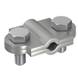 P2016 Vario-Trennklemme V2A rostfrei, Ø 8-10 mm/Ø 8-10 mm/30x3,5 mm 2tlg. rd/rd/fl