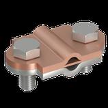 P1343 Z Zweimetall Vario-Klemme, Ø 8-10mm/Ø 8-10mm rd/ Cu/rd St/tZn/fl