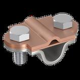 P1348 Z Zweimetall Vario-Klemme, Ø 8-10mm/Ø 16mm/rd Cu/rd St/tZn/fl