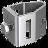 P2025 Anschlußklemme V4A rostfrei für Tiefenerder Ø 25mm / fl. 30x3,5mm und/oder Ø 10mm