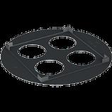 P103 102 Unterlegplatte für Betonsockel 300x300 mm, Ø 445mm