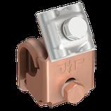 P111 674 Zweimetall Dachrinnenklemme IDEAL, Alu/Cu, Ø 6-8mm für Wulststärken bis Ø 20mm