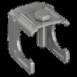P111 420 Verbindungsklemme Stahl für Ø 30mm Bewehrung ohne Klemmbügel, fl/rd