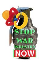 Postkarte, Bôba Mènde  - STOP WAR INDUSTRY!
