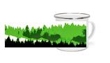 Emaille Tasse grüne Schwarzwald Tannen