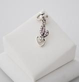 Ref.: 00113  Charm de plata 925 y zircon